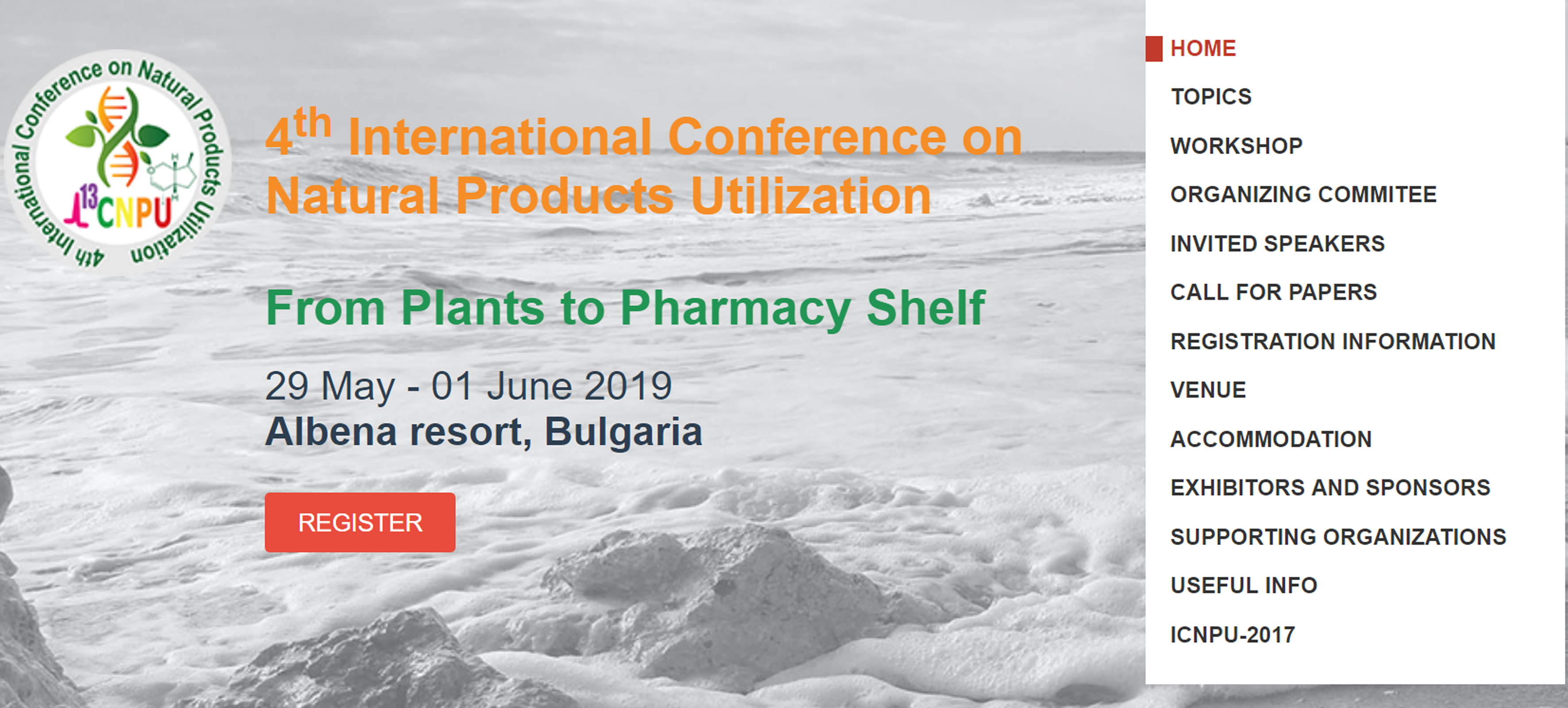 ICNPU-2019 4th International Conference on Natural Products Utilization From Plants to Pharmacy Shelf, supported by INPST