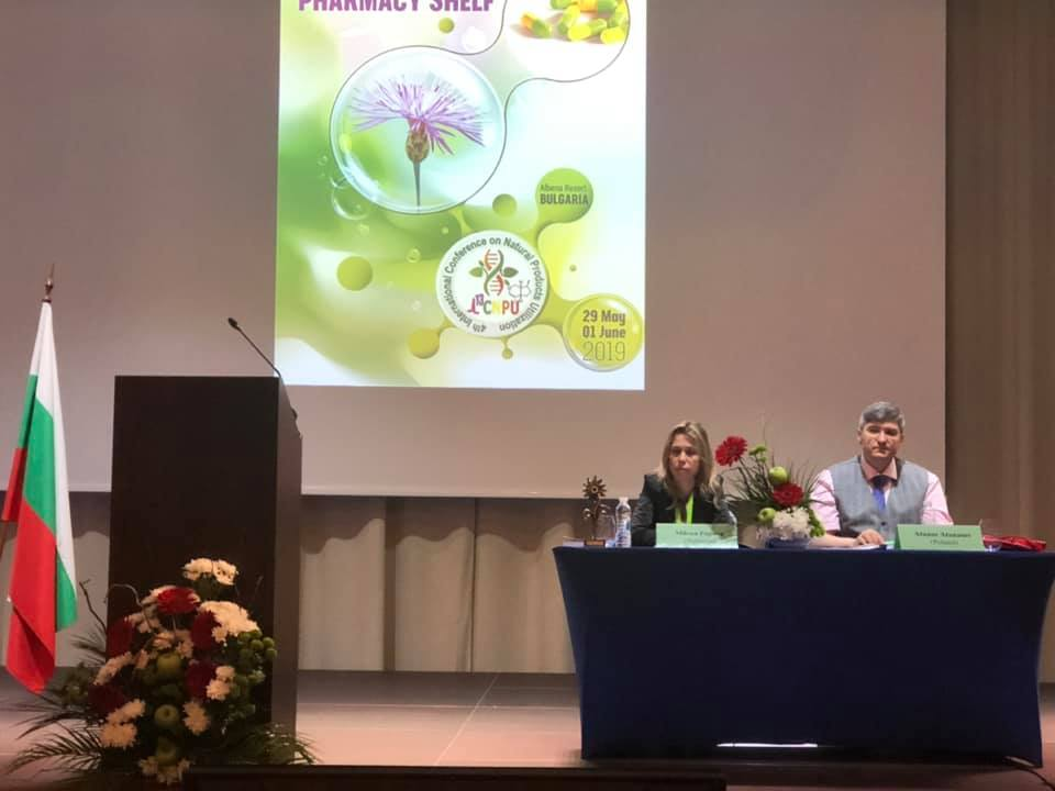 Professors Milena Popova and Atanas G. Atanasov chairing early morning session on Cannabis at the ICNPU-2019 conference. Photo by Prof. Milen Georgiev.